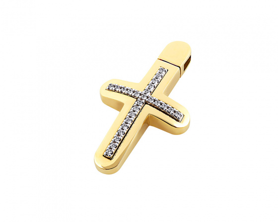 "Image of ""Gold women's cross Κ14, T01118"""