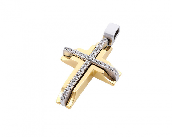 "Image of ""Gold women's cross Κ14, T01218"""