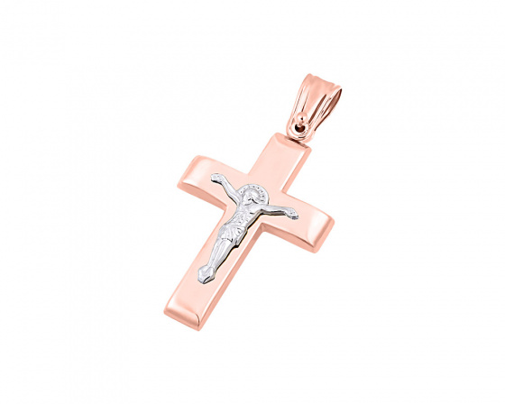 """Εικόνα του """"Ροζ χρυσός ανδρικός σταυρός Κ14, Τ04319"""""""