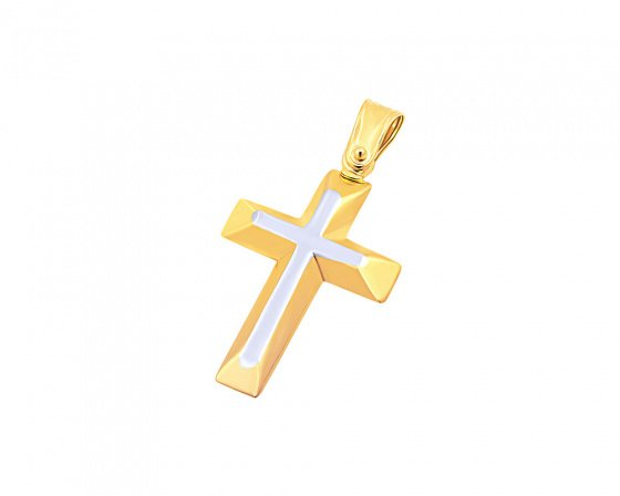 "Image of ""Gold men's cross Κ9, T02019"""