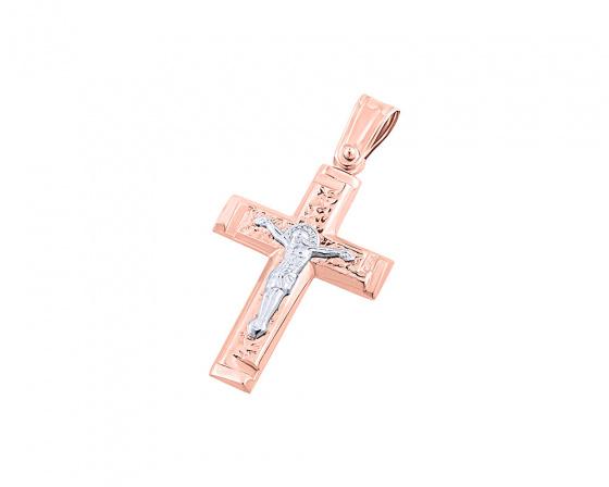 """Εικόνα του """"Ροζ χρυσός ανδρικός σταυρός Κ9, T04719"""""""