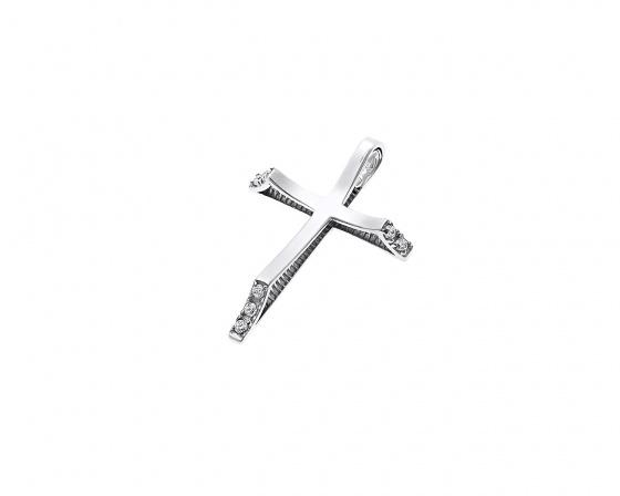 "Image of ""White gold women's cross Κ14, T004"""