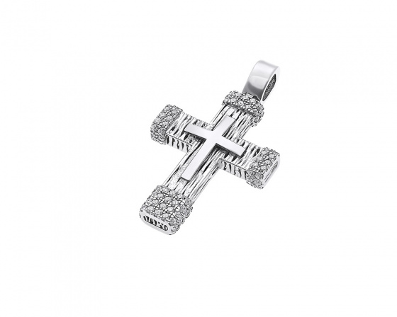 "Image of ""White gold women's cross K14, H134"""