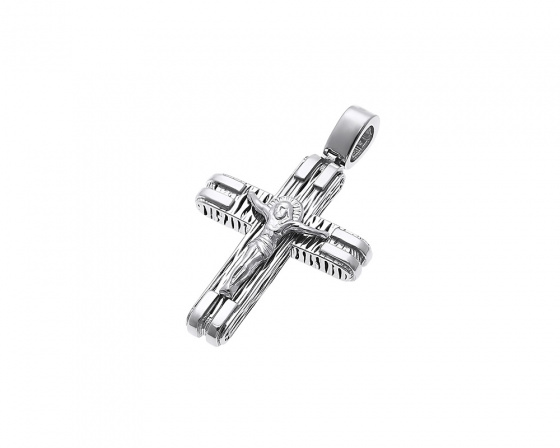 "Image of ""White gold men's cross Κ14, H223"""
