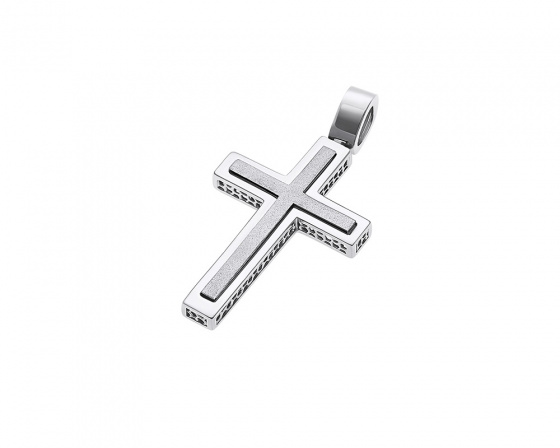 "Image of ""White gold men's cross Κ14, H252"""