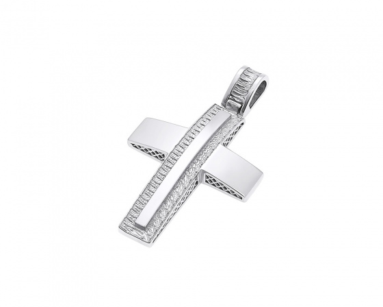 "Image of ""White gold men's cross Κ14, H369"""