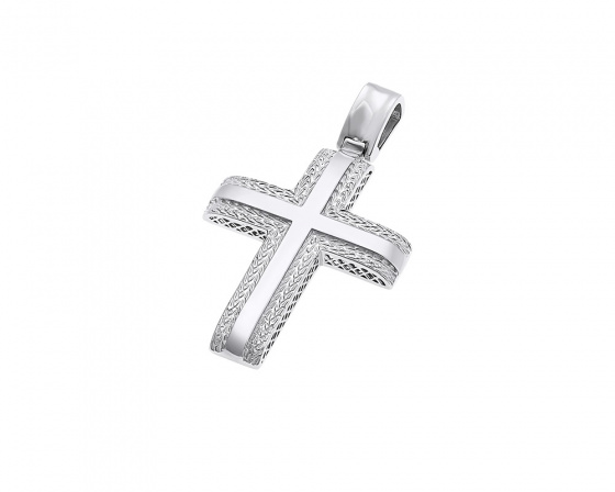 "Image of ""White gold men's cross K14, T014"""