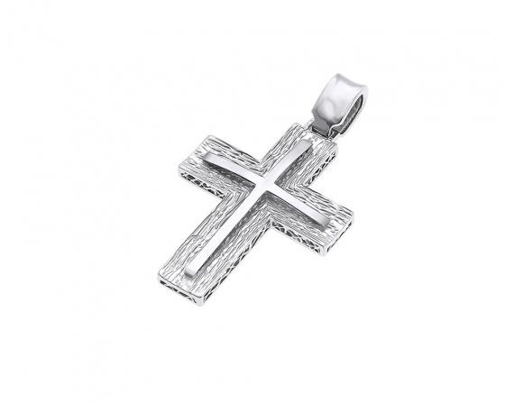 """Εικόνα του """"Λευκόχρυσος ανδρικός σταυρός Κ14, H373"""""""