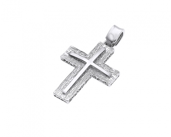 "Image of ""White gold men's cross K14, H373"""