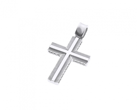 "Image of ""White gold men's cross K14, Τ020"""