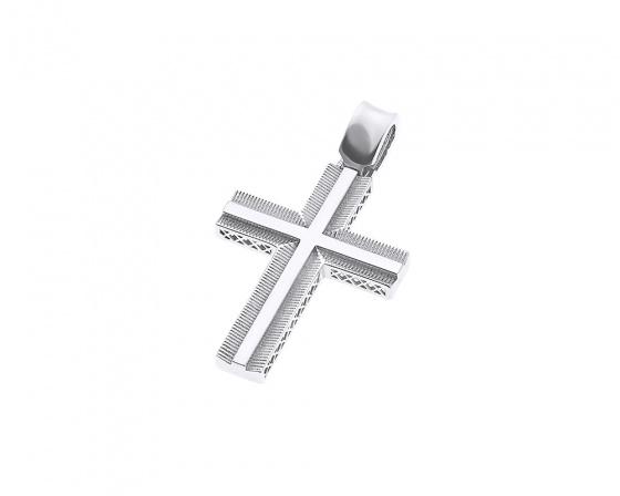 """Εικόνα του """"Λευκόχρυσος ανδρικός σταυρός Κ14, Τ020"""""""
