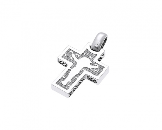 "Image of ""White gold men's cross K14, T022"""