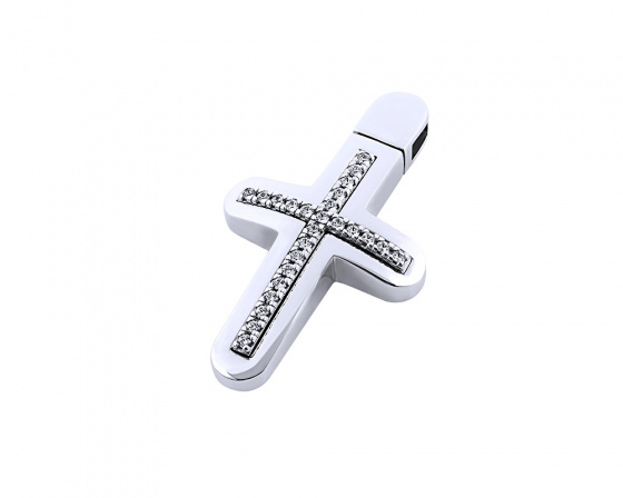 "Image of ""White gold women's cross Κ14, T01118"""