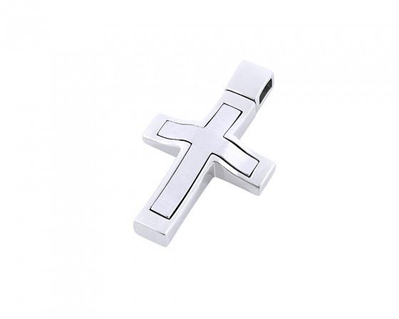 "Image of ""White gold men's cross Κ14, Τ01418"""