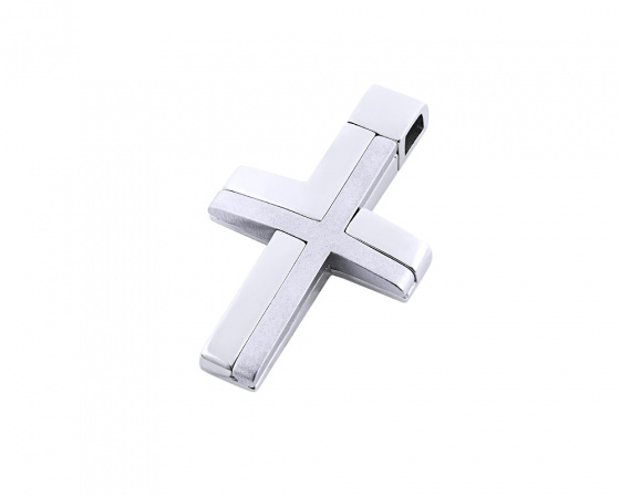 "Image of ""White gold men's cross Κ14, Τ01518"""