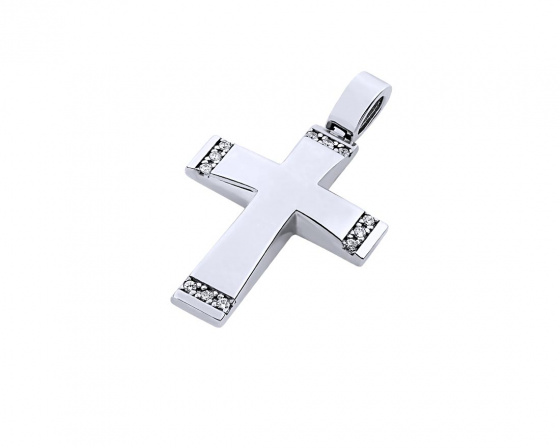 "Image of ""White gold women's cross Κ14, T00219"""