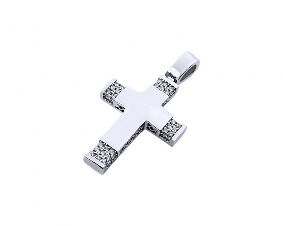 "Image of ""White gold women's cross Κ14, T00519"""