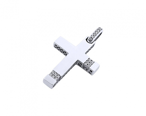 "Image of ""White gold women's cross Κ14, T00819"""