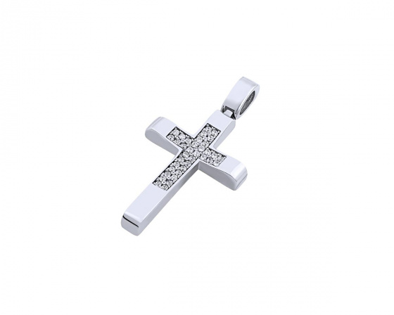 "Image of ""White gold women's cross Κ14, T00919"""