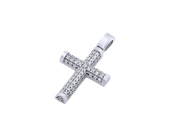 "Image of ""White gold women's cross Κ14, T01119"""