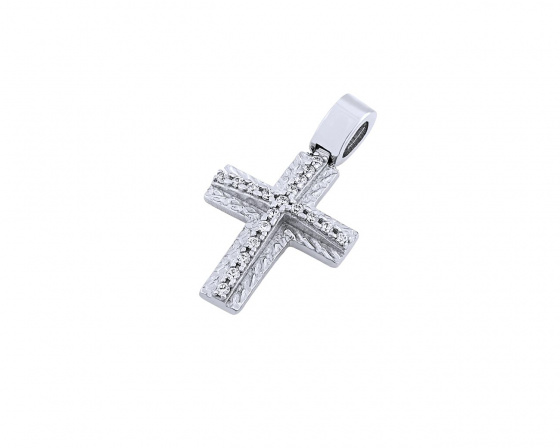 "Image of ""White gold women's cross Κ14, T01319"""