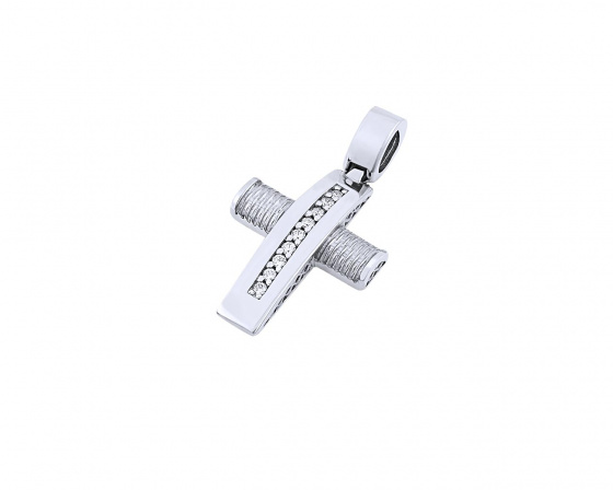 "Image of ""White gold women's cross Κ14, T01419"""