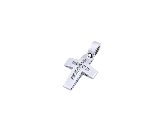 "Image of ""White gold women's cross Κ14, T01519"""
