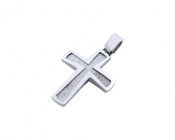 "Image of ""White gold men's cross Κ14, T02519"""