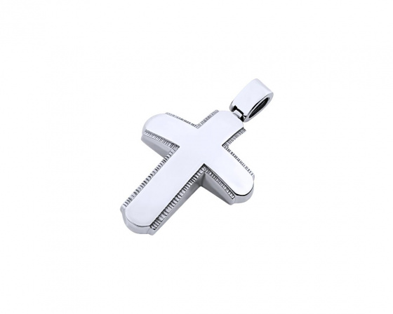 "Image of ""White gold men's cross Κ14, T02719"""