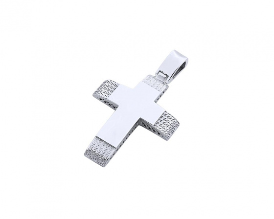 "Image of ""White gold women's cross Κ14, T02819"""