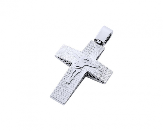 "Image of ""White gold men's cross Κ14, T02919"""