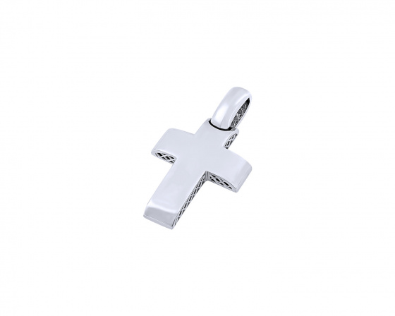 "Image of ""White gold men's cross Κ14, T03119"""