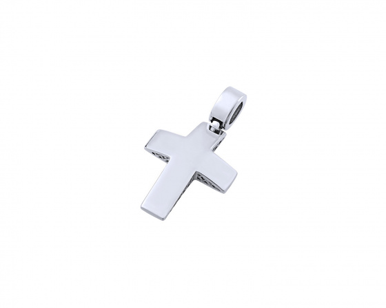 "Image of ""White gold men's cross Κ14, T03219"""