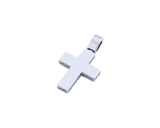 "Image of ""White gold men's cross Κ14, T03319"""