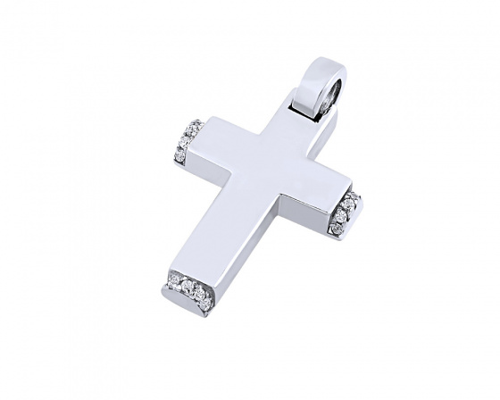 "Image of ""White gold women's cross Κ14, T01719"""