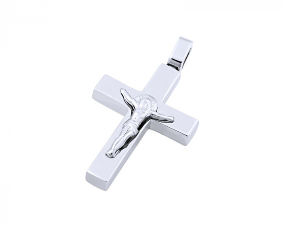 "Image of ""White gold men's cross Κ14, T02219"""