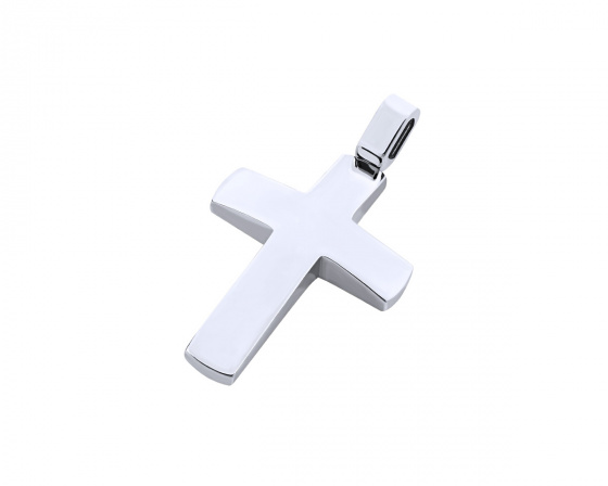 "Image of ""White gold men's cross Κ14, T03719"""
