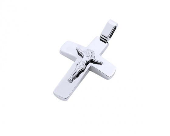 """Εικόνα του """"Λευκόχρυσος ανδρικός σταυρός Κ14, T04319"""""""