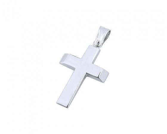 """Εικόνα του """"Λευκόχρυσος ανδρικός σταυρός Κ14, T00719"""""""