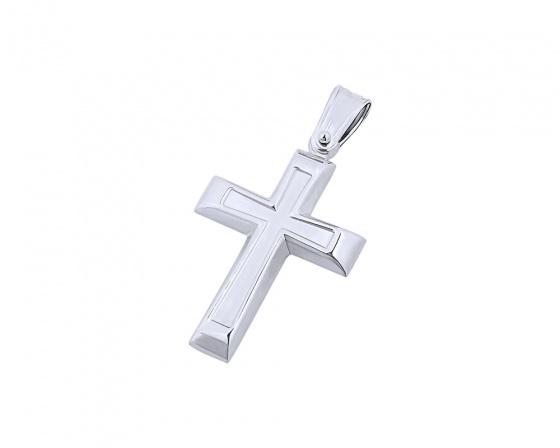"""Εικόνα του """"Λευκόχρυσος ανδρικός σταυρός Κ14, T02719"""""""