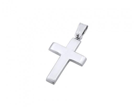 """Εικόνα του """"Λευκόχρυσος ανδρικός σταυρός Κ14, T00819"""""""