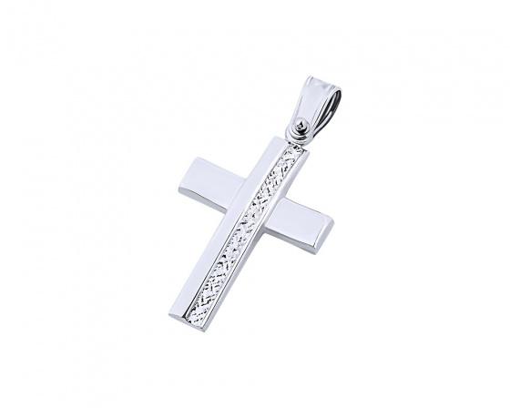 """Εικόνα του """"Λευκόχρυσος γυναικείος σταυρός Κ14, T04819"""""""