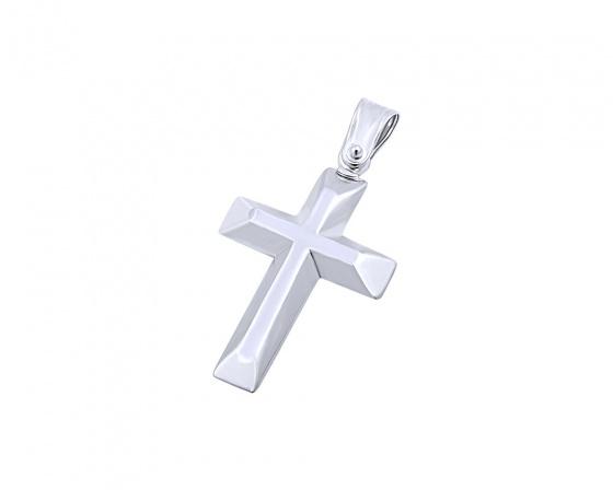 """Εικόνα του """"Λευκόχρυσος ανδρικός σταυρός Κ14, T02019"""""""