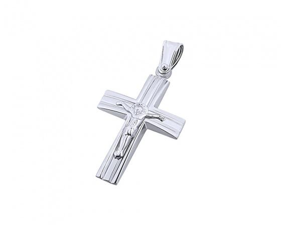 """Εικόνα του """"Λευκόχρυσος ανδρικός σταυρός Κ14, T04919"""""""