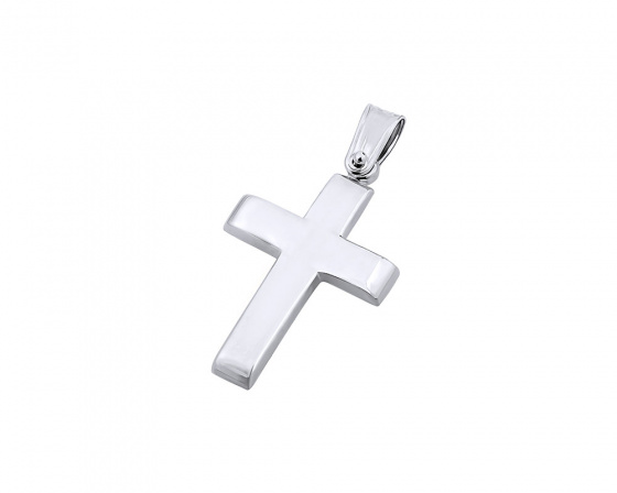 "Image of ""White gold men's cross Κ9, T00819"""