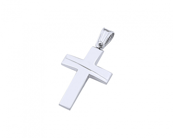 "Image of ""White gold men's cross Κ9, T01519"""