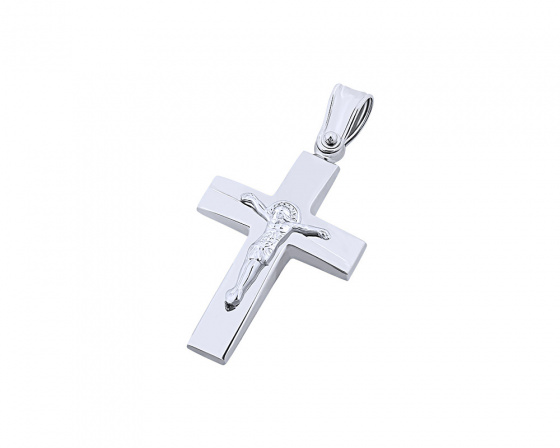 "Image of ""White gold men's cross Κ9, T01719"""