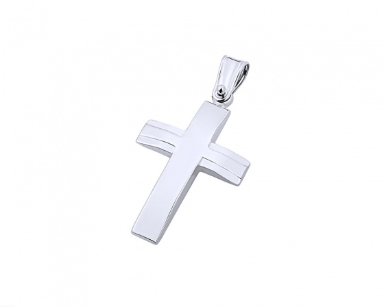 "Image of ""White gold men's cross Κ9, T02219"""
