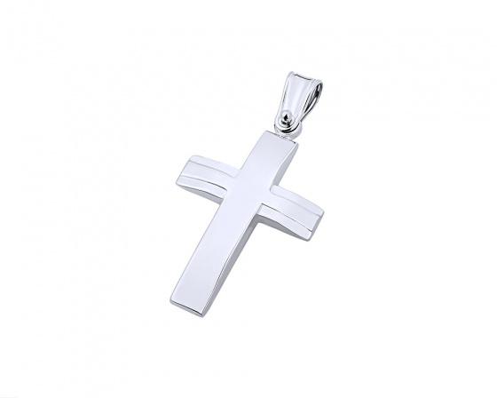 """Εικόνα του """"Λευκόχρυσος ανδρικός σταυρός Κ9, T02219"""""""