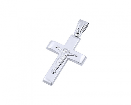 "Image of ""White gold men's cross Κ9, T04319"""